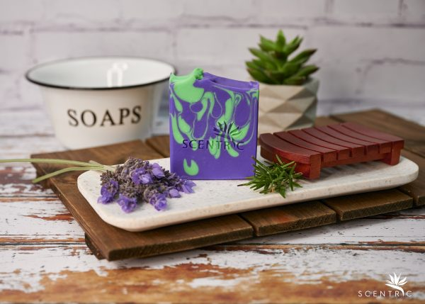 Lavender and Rosemary Soap Bar no label