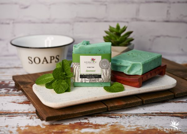 Spearmint Soap Bar with label